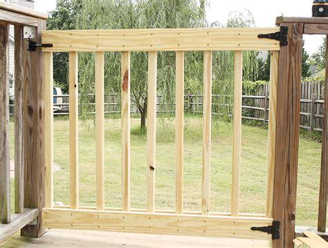 build   deck stair gate