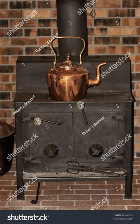stove kettle copper woodburning shutterstock