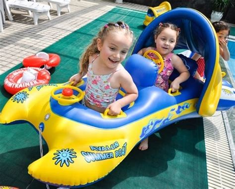 New Toddler Baby Sunshade Inflatable Float Seat Boat