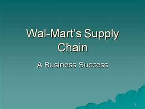 2 wal mart supply chain authorstream With walmart powerpoint template