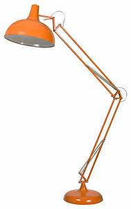 Atlas floor lamp orange modern floor lamps by urban for Orange tiffany floor lamp