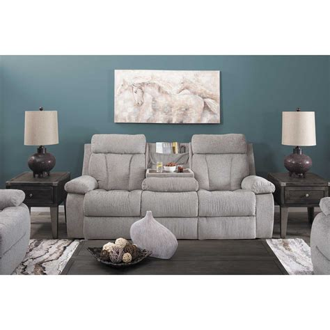 Grey And Loveseat by Mitchiner Grey Reclining Console Loveseat 7620494