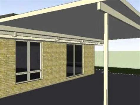 insulated flyover patio on riser brackets