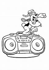 Radio Coloring Pages Samson Gert Singing Template sketch template