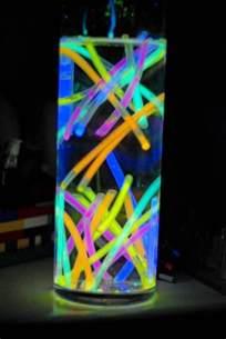 80s Centerpieces with Glow Sticks