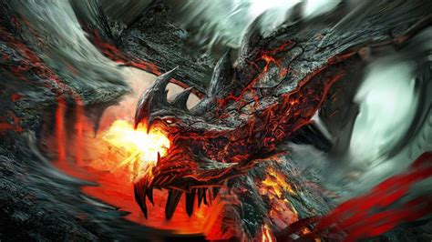 Dragon Wallpaper Hd 1080p Fire Lava Dragon Fantasy Desktop Wallpaper Creative And Fantasy Wallpaper Better