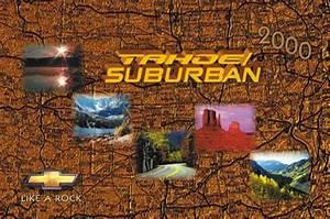 2000 Chevrolet Tahoe  Suburban Owners Manual