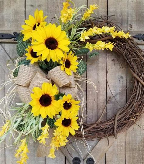 wreath  sunflowers  easy diy ideas