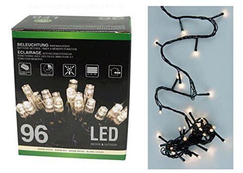 Weihnachtsdeko Fenster Led Batterie by 2x Led Lichterkette 96 Leds Warmwei 223 Batterie Timer
