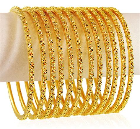 22k gold bangle 8pcs bast20719 bangles gt of bangles