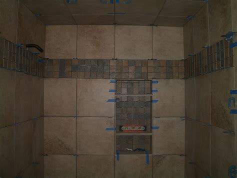 bathroom stunning tiled showers with accent tile and