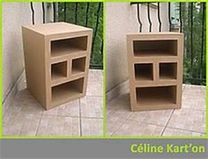 tuto meuble carton avec 1 elt bas 1 http cartons et With comment faire des meubles en carton
