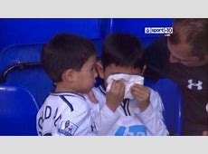 A young Tottenham fan is seen crying in the defeat to