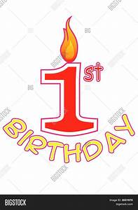 First Birthday Logo Vector & Photo | Bigstock