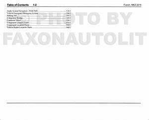 2016 Ford Fusion Lincoln Mkz Wiring Diagram Manual Original
