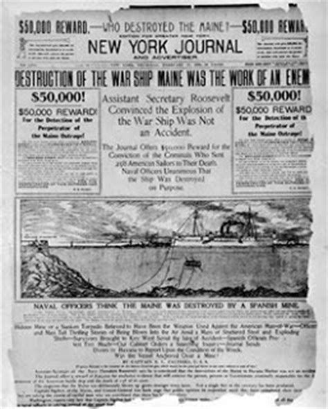 uss maine sinking yellow journalism uta 2009 imperialism