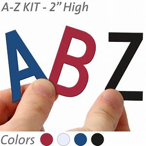 2 inch die cut magnetic letter kit in 4 color options With die cut magnetic letters