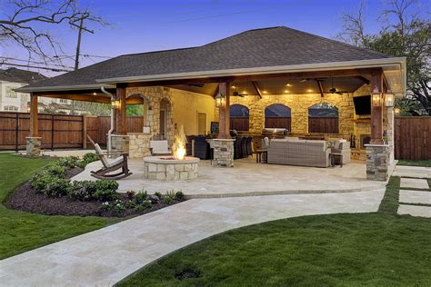 Outdoor Patio by Expanded Outdoor Living Area In Houston Custom Patios