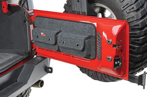 jeep tailgate storage covercraft to1019ch tailgate pocket pods for 07 14 jeep
