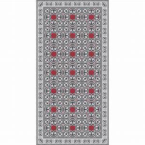 Tapis En Vinyle : tapis vinyle pinta gris et rouge adama perlin paon paon ~ Teatrodelosmanantiales.com Idées de Décoration