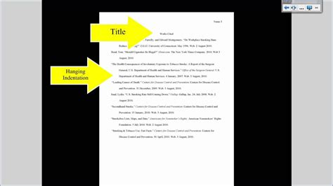 mla tutorial  works cited page formatting youtube