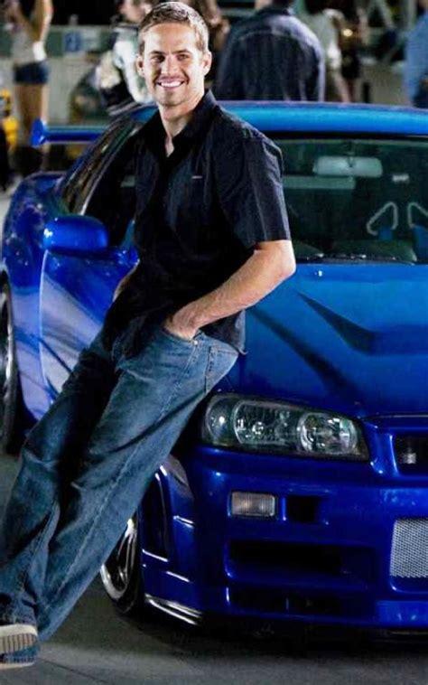 fast  furious paul walker blue car photoshoot full hd
