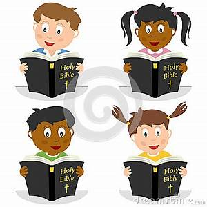 Kids Reading The Holy Bible Royalty Free Stock Image ...