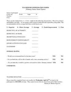 Form Letter Recommendation Teacher