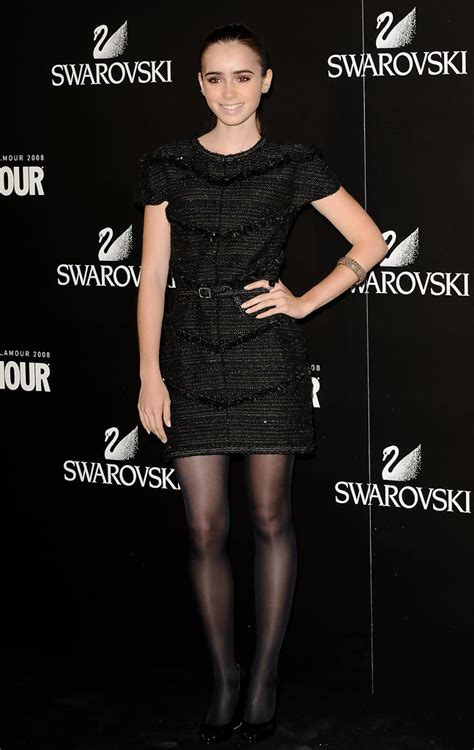 lily collins  black dress lily collins