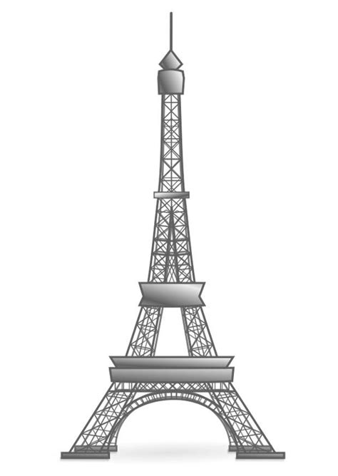 coloring page eiffel tower france  printable