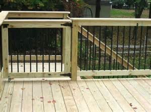 sliding deck gate ideas deck design and ideas