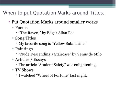 in essays do get underlined or quotation lineup