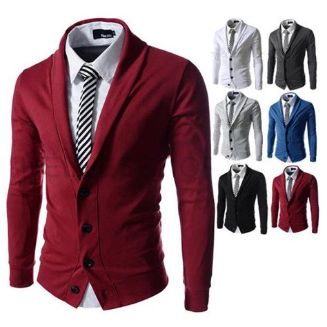 cool sweaters for guys 2016 winter fashion color knit cardigan jacket