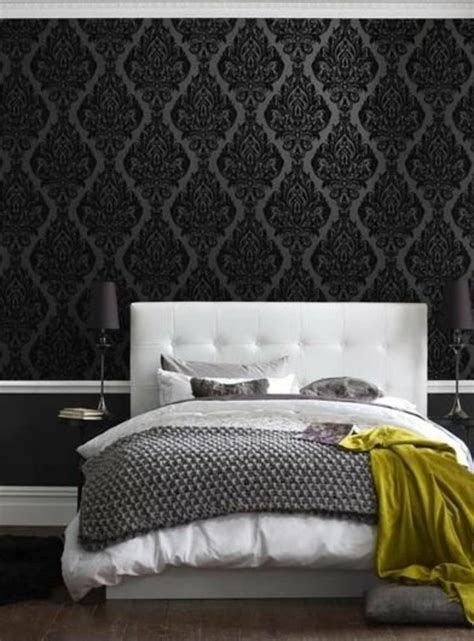 chambre noir gris les papiers peints design en 80 photos magnifiques