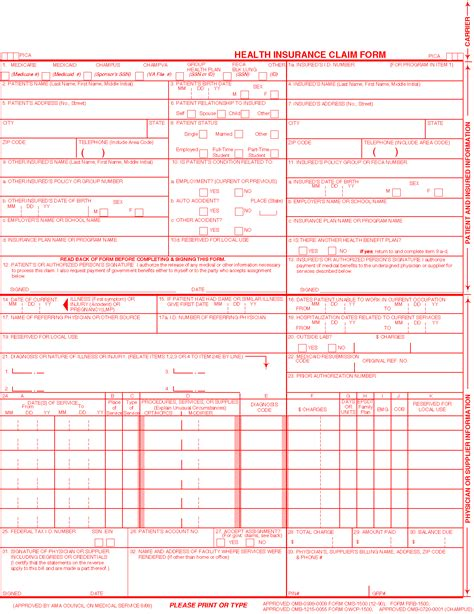 free ub 04 form download printable ub04 claim form carla maria smith