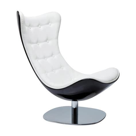 acheter un canape fauteuil design noir et blanc atrio deluxe kare