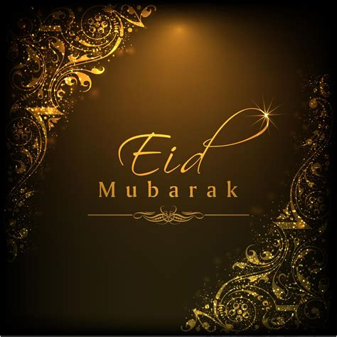 happy eid mubarak greeting card chocolate design vector
