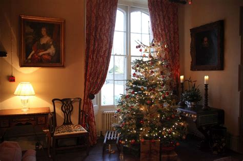 traditional country christmas   manor country house