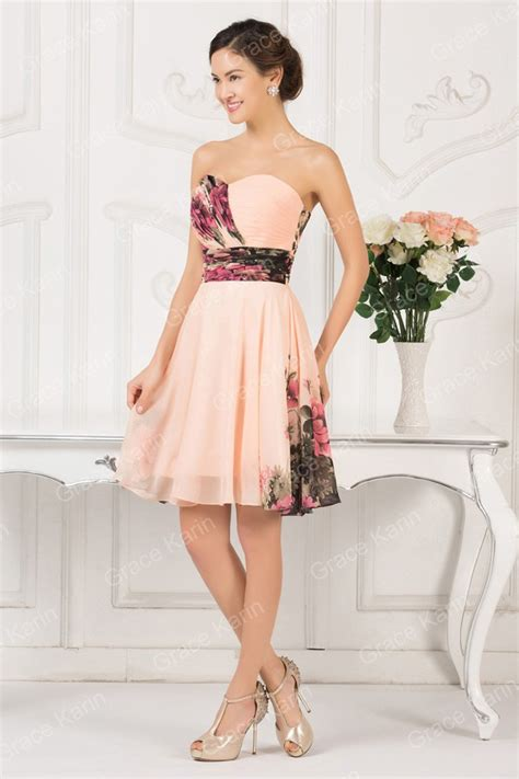 special weddings party  knee length chiffon floral
