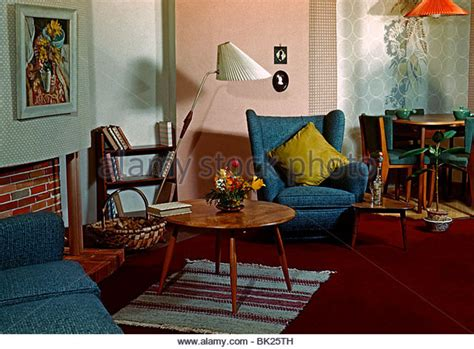 The Living Room Nottingham by Wallpaper Fifties 1950s Sixties Stock Photos Wallpaper