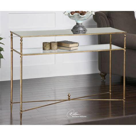 gold console table uttermost gold henzler console table 24278 bellacor