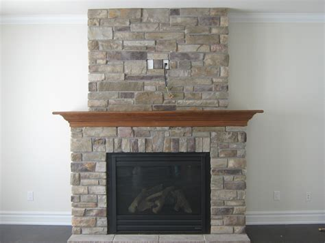 Indoor Stone Veneer Panels Stacked Stone Veneer Feature