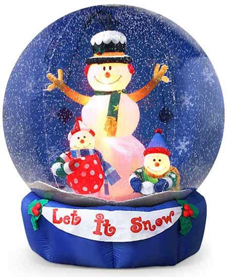 giant inflatable snow globes   snow
