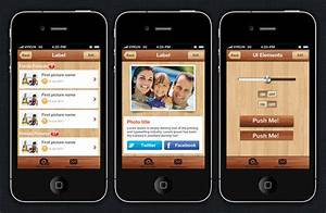 photoly iphone and ios app ui design templates With iphone app design template free