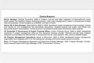 Resume Templates For Project Managers Pmi Career Central An Inside Look At An Advanced Project Manager 39 S Résumé