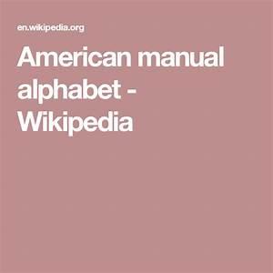 American Manual Alphabet