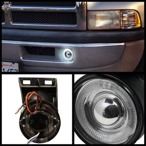 Dodge Ram 3500 1994 2001 Smoked Halo Projector Fog Lights