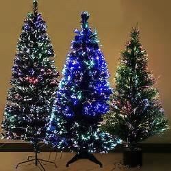 luxury fiber optic 3ft 4ft 5ft 6ft christmas tree multi color light green black christmas
