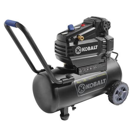 kobalt 1 8 hp 8 gal 150 psi horizontal electric air