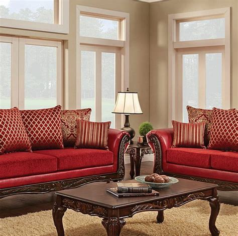 Traditional Style Loveseats by Multi Fabric Combination Traditional Style Sofa Loveseat
